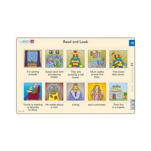 Larsen Rahmenpuzzle - Read and Look 19-20 (auf Englisch) 10 Teile Puzzle Larsen-RA10-EN-19-20