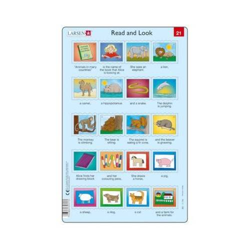 Larsen Rahmenpuzzle - Read and Look 21-22 (auf Englisch) 20 Teile Puzzle Larsen-RA11-EN-21-22