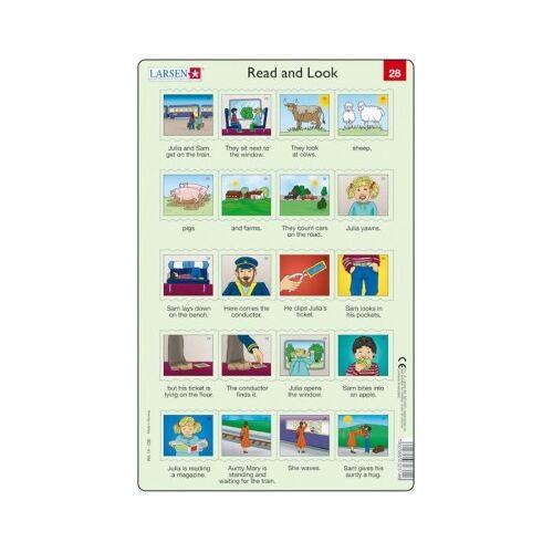 Larsen Rahmenpuzzle - Read and Look 27-28 (auf Englisch) 20 Teile Puzzle Larsen-RA14-EN-27-28