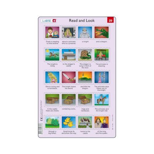 Larsen Rahmenpuzzle - Read and Look 29-30 (auf Englisch) 20 Teile Puzzle Larsen-RA15-EN-29-30