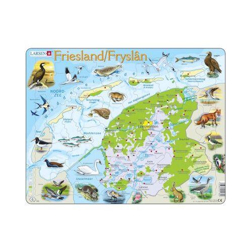 Larsen Rahmenpuzzle - Friesland, Niederlande (auf Holländisch) 64 Teile Puzzle Larsen-K80-NL