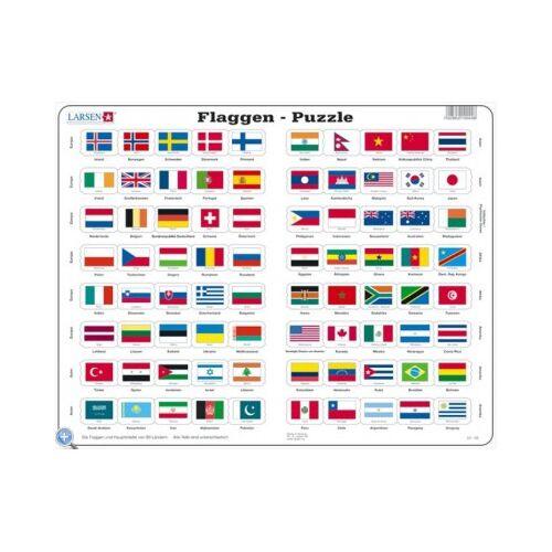 Larsen Rahmenpuzzle - Flaggen der Welt 80 Teile Puzzle Larsen-L2-DE