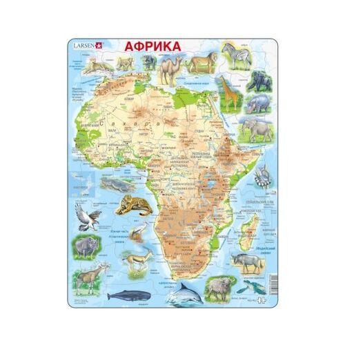 Larsen Rahmenpuzzle - Afrika (auf Russisch) 63 Teile Puzzle Larsen-A22-RU