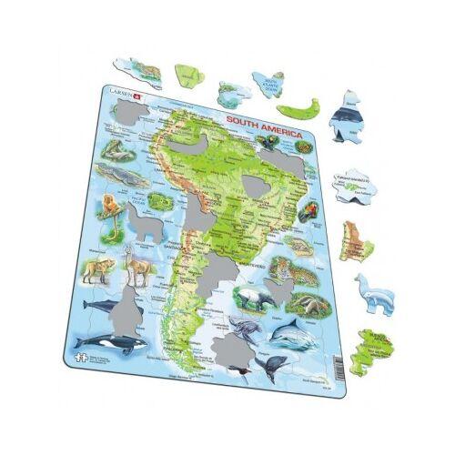 Larsen Rahmenpuzzle - Südamerika (auf Spanisch) 65 Teile Puzzle Larsen-A25-ES