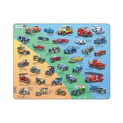 Larsen Rahmenpuzzle - Retro Autos 42 Teile Puzzle Larsen-HL8-DE