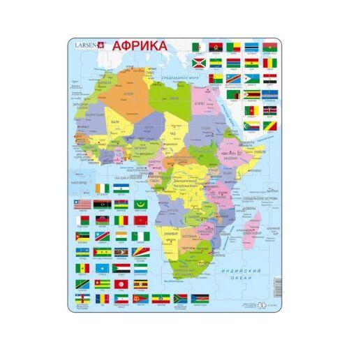 Larsen Rahmenpuzzle - Afrika (auf Russisch) 70 Teile Puzzle Larsen-K13-RU