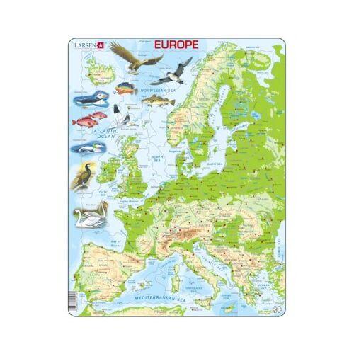 Larsen Rahmenpuzzle - Europa (auf Englisch) 87 Teile Puzzle Larsen-K70-GB
