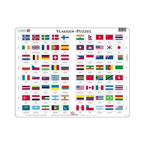 Larsen Rahmenpuzzle - Vlaggen (Holländisch) 80 Teile Puzzle Larsen-L2-NL