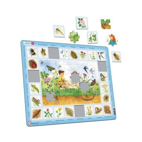 Larsen Rahmenpuzzle - In der Natur (in niederländisch) 48 Teile Puzzle Larsen-NA1-NL-HO