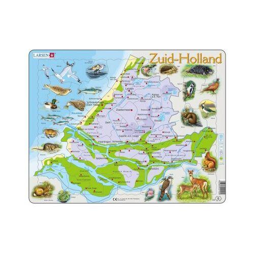 Larsen Rahmenpuzzle - Karte der Niederlande (auf Niederländisch) 62 Teile Puzzle Larsen-K90-NL