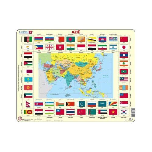 Larsen Rahmenpuzzle - Asien (auf Niederländisch) 70 Teile Puzzle Larsen-KL2-NL