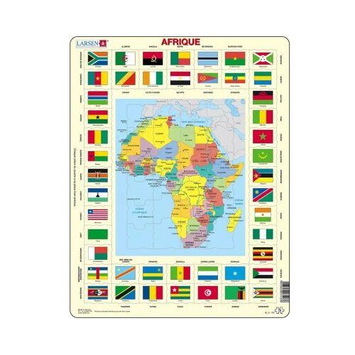 Larsen Rahmenpuzzle - Afrika (auf Französisch) 70 Teile Puzzle Larsen-KL3-FR