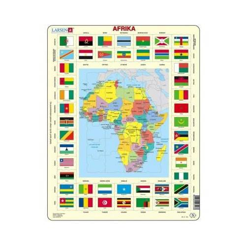 Larsen Rahmenpuzzle - Afrika (auf Niederländisch) 70 Teile Puzzle Larsen-KL3-NL