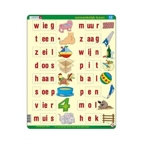 Larsen Rahmenpuzzle - Lerne Niederländisch zu lesen 2 22 Teile Puzzle Larsen-SC12-NL