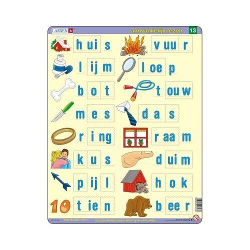 Larsen Rahmenpuzzle - Lerne Niederländisch zu lesen 3 23 Teile Puzzle Larsen-SC13-NL