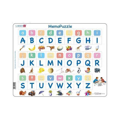 Larsen Rahmenpuzzle - MemoPuzzle (auf Englisch) 52 Teile Puzzle Larsen-GP426-GB