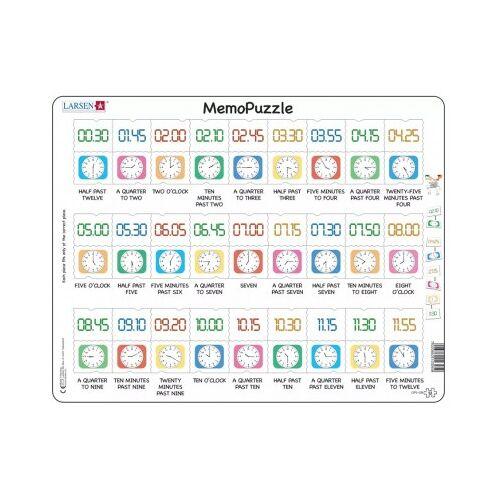 Larsen Rahmenpuzzle - MemoPuzzle (auf Englisch) 54 Teile Puzzle Larsen-GP5-GB