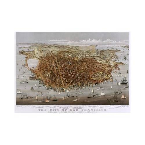 Grafika Poster Currier & Ives: The City of San Francisco, 1878 1000 Teile Puzzle Grafika-00571