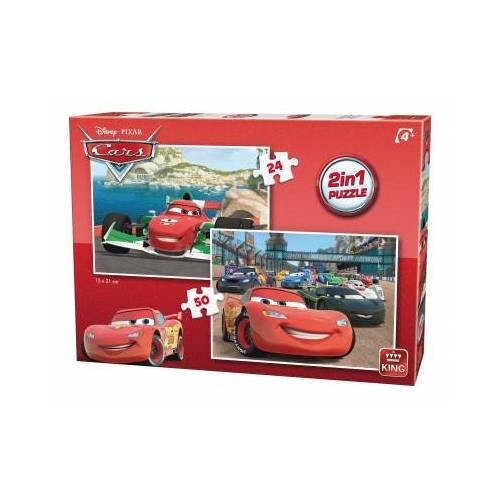 King International 2 Puzzles - Cars 24 Teile Puzzle King-Puzzle-05415