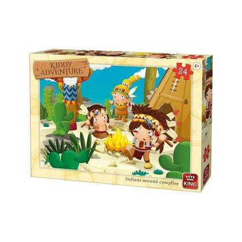 King International Cow-Boys & Indians 24 Teile Puzzle King-Puzzle-05790