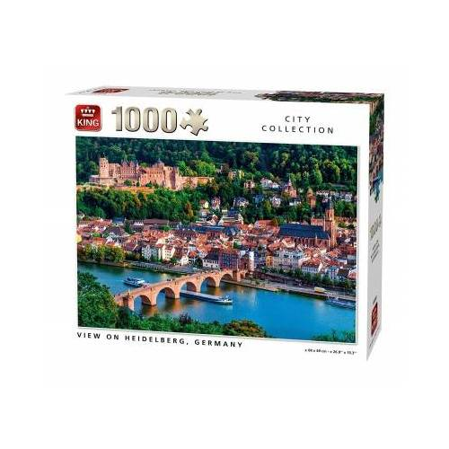 King International View of Heidelberg 1000 Teile Puzzle King-Puzzle-55850