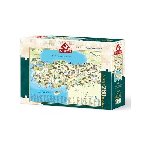 ART Puzzle Karte von Türkei 260 Teile Puzzle Art-Puzzle-4288