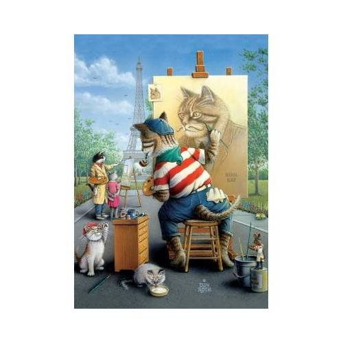 ART Puzzle Painter Cat 500 Teile Puzzle Art-Puzzle-5087