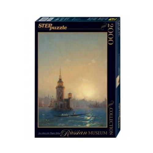 Step Puzzle Russian Museum - Ivan Aivazovsky - View of Leandrovsk tower in Constantinople 2000 Teile Puzzle Step-Puzzle-84202