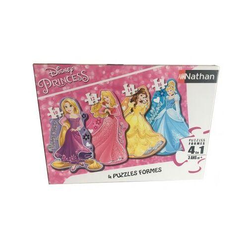 Nathan 4 Puzzles - Disney Princess 10 Teile Puzzle Nathan-86205