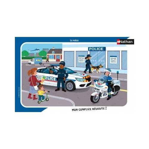 Nathan Rahmenpuzzle - Polizei 15 Teile Puzzle Nathan-86139