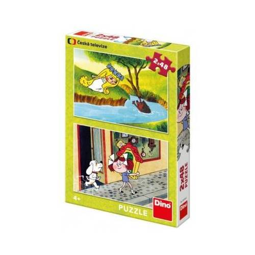 Dino 2 Puzzles - Fairy Tales 48 Teile Puzzle Dino-38158