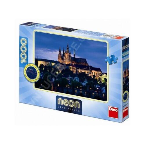 Dino Neon Puzzle - Prag 1000 Teile Puzzle Dino-54116