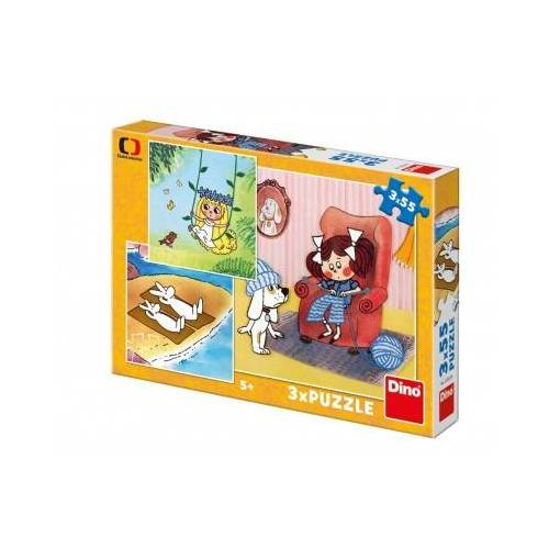 Dino 3 Puzzles - Fairy Tales 55 Teile Puzzle Dino-33529