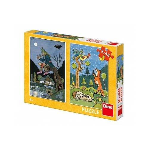 Dino 2 Puzzles - Fairy Tales 48 Teile Puzzle Dino-38161
