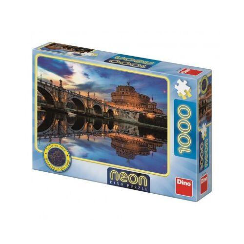Dino Neon Puzzle - Angel Castle 1000 Teile Puzzle Dino-54129