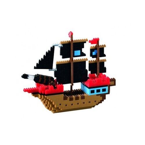 Brixies Nano 3D Puzzle - Piratenschiff (Level 4) 726 Teile Puzzle Brixies-58788