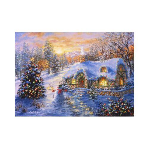 Bluebird Puzzle Christmas Cottage 2000 Teile Puzzle Bluebird-Puzzle-70065