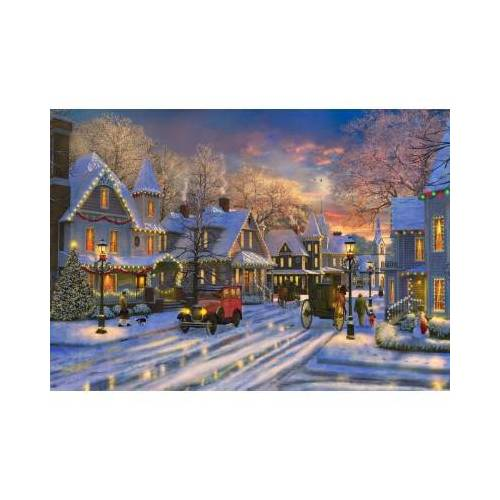 Bluebird Puzzle Small Town Christmas 1500 Teile Puzzle Bluebird-Puzzle-70113
