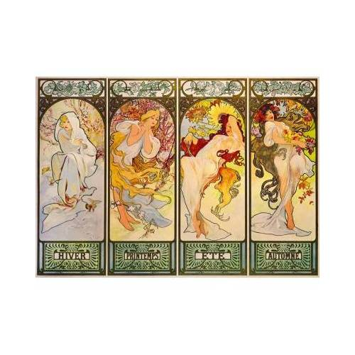 Bluebird Puzzle Mucha - Four Seasons, 1900 1000 Teile Puzzle Art-by-Bluebird-Puzzle-60056