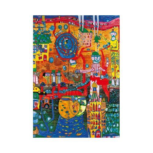 Bluebird Puzzle Hundertwasser - The 30 Days Fax Painting, 1996 1000 Teile Puzzle Art-by-Bluebird-Puzzle-60064