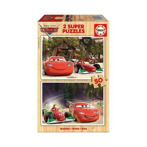 Educa Holzpuzzle - Cars 50 Teile Puzzle Educa-16372