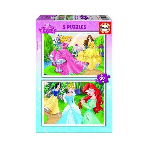 Educa 2 Puzzles - Disney Princess 20 Teile Puzzle Educa-16846