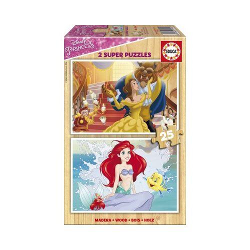 Educa 2 Holzpuzzles - Disney Princess 25 Teile Puzzle Educa-17164
