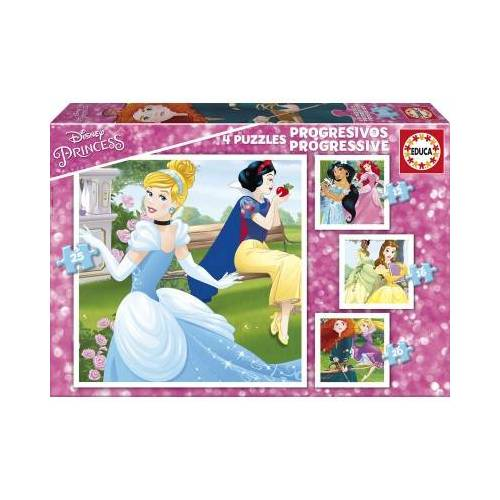 Educa 4 Puzzles - Disney Princess 12 Teile Puzzle Educa-17166