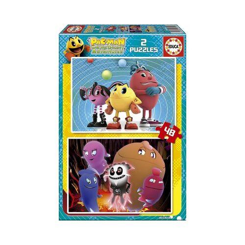 Educa 2 Puzzles - Pac-Man 48 Teile Puzzle Educa-16159