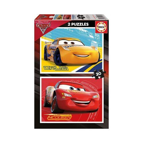 Educa 2 Puzzles - Cars 20 Teile Puzzle Educa-17176