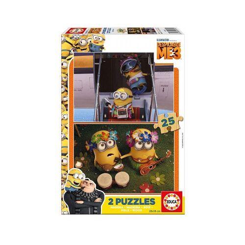 Educa 2 Holzpuzzles - Minions 25 Teile Puzzle Educa-17231