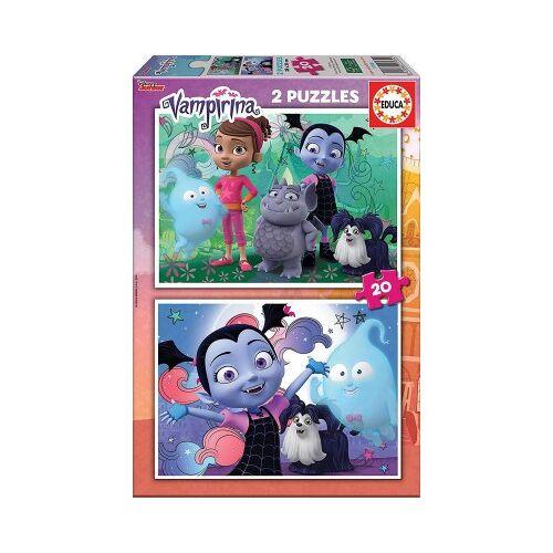 Educa 2 Puzzles - Disney Vampirina 20 Teile Puzzle Educa-17939