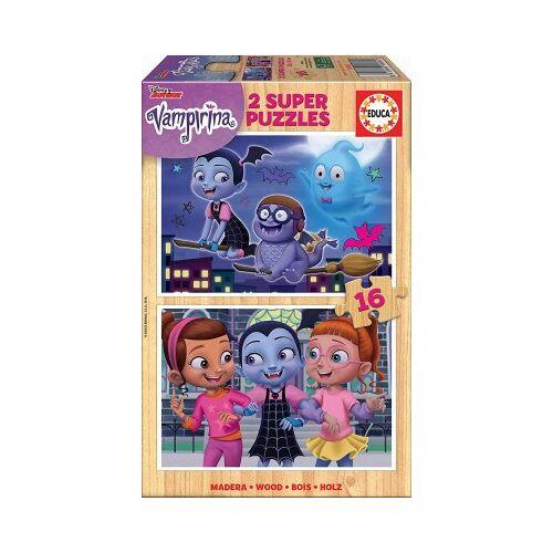 Educa Holzpuzzle - Disney - Vampirina 16 Teile Puzzle Educa-18080