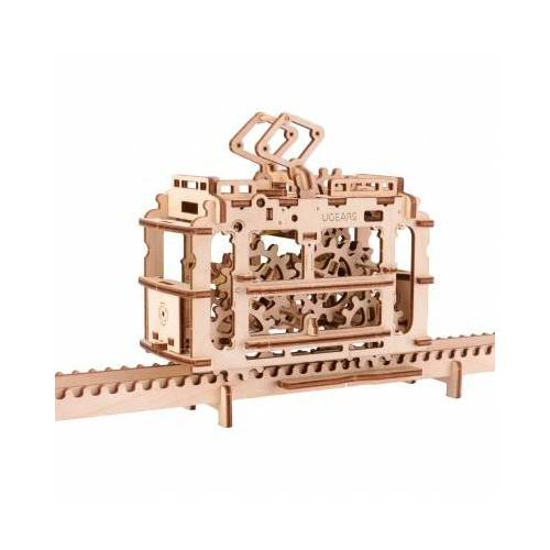 Ugears 3D Holzpuzzle - Tram on Rails 154 Teile Puzzle Ugears-12019